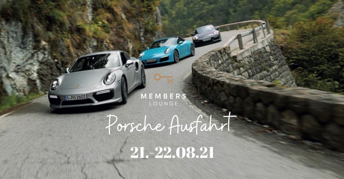 Memberslounge und Porsche Ausfahrt