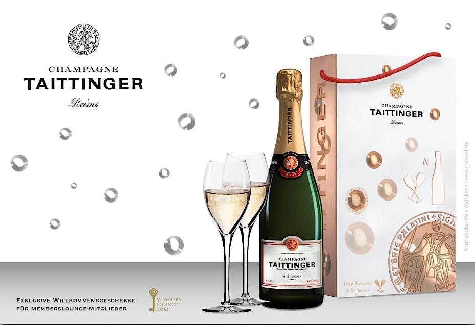 Memberslounge kooperiert mit Champagne Taittinger